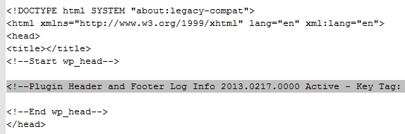 wp-header-footer-log screenshot 1