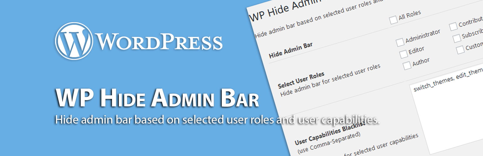WP Hide Admin Bar