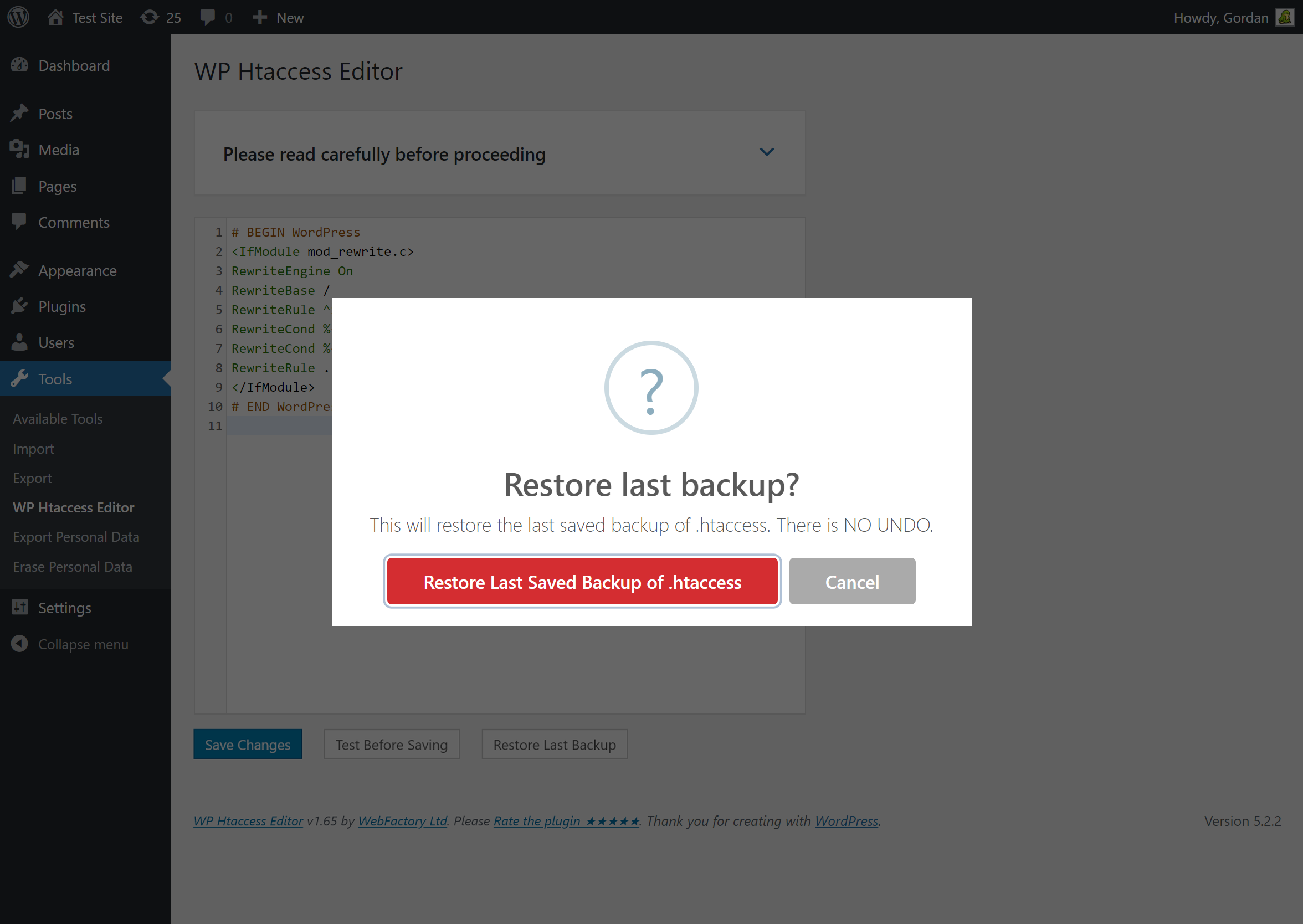 Htaccess Editor – Safely Edit Htaccess File Screenshot modificare htaccess wordpress - screenshot 2 - Modificare htaccess Wordpress