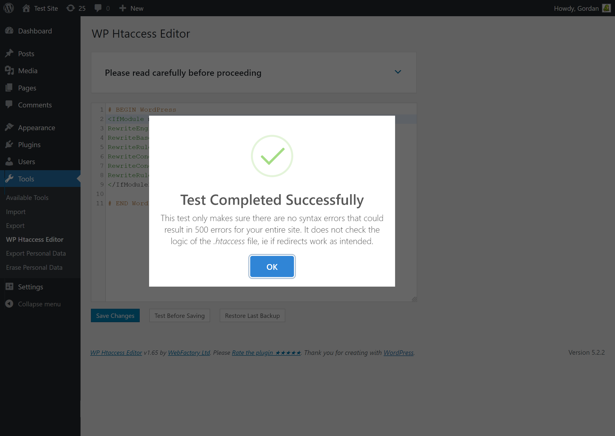 Htaccess Editor – Safely Edit Htaccess File Screenshot modificare htaccess wordpress - screenshot 3 - Modificare htaccess Wordpress