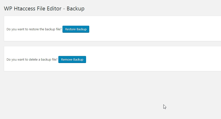 Automatic backup and restore htaccess file