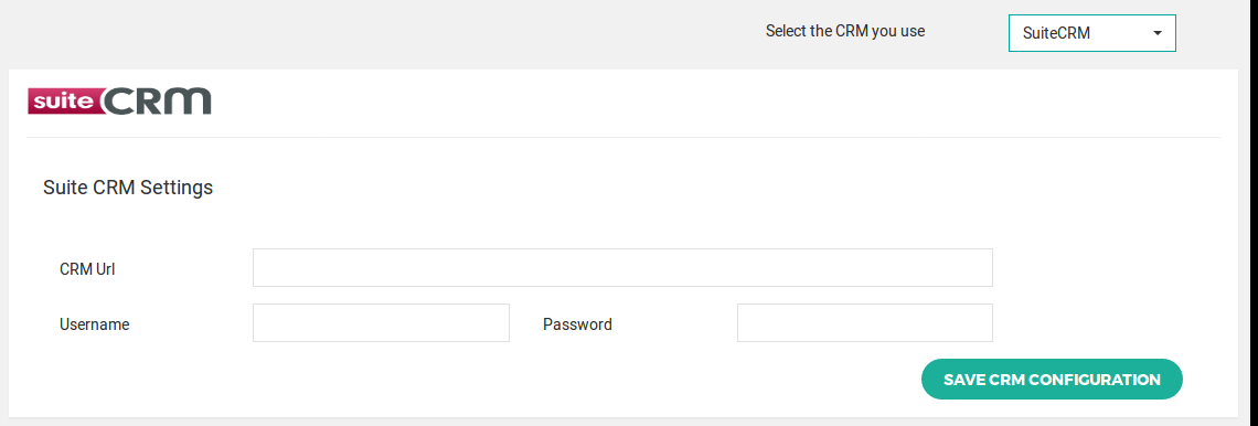 Suite CRM configuration option