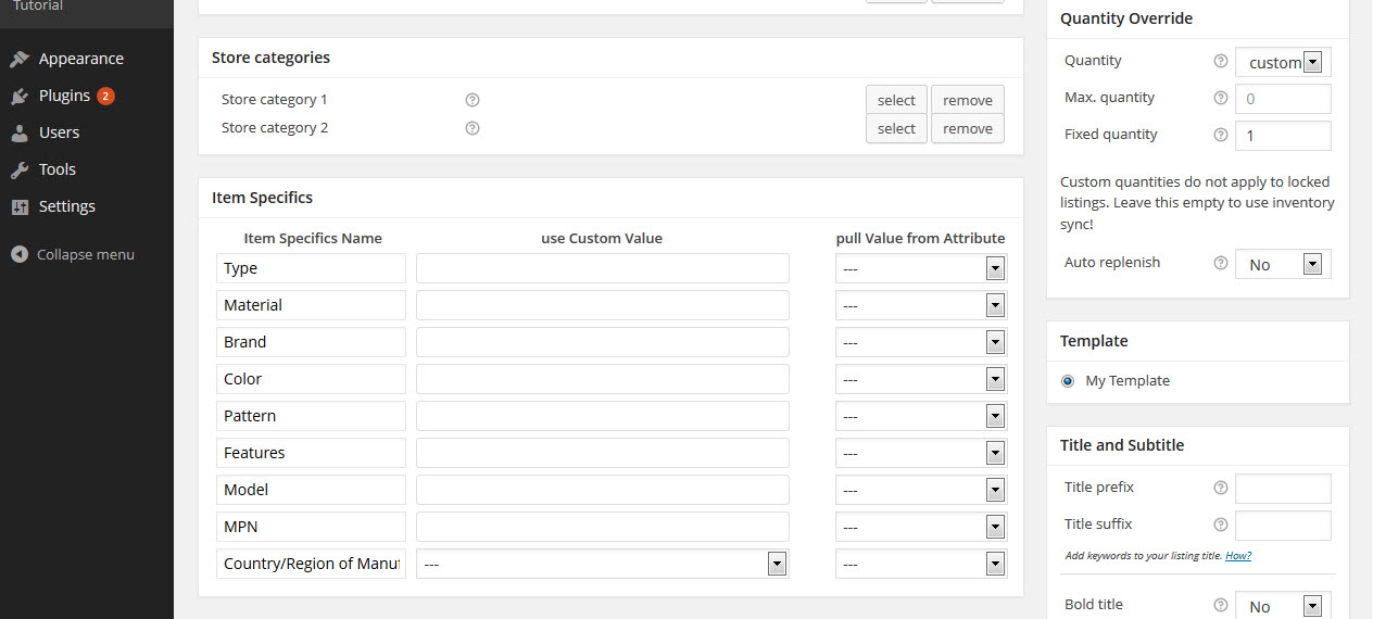 WP-Lister Lite for eBay – WordPress plugin | WordPress org