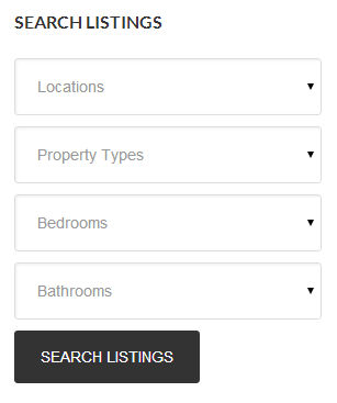 <p>Listing Search Widget display</p>