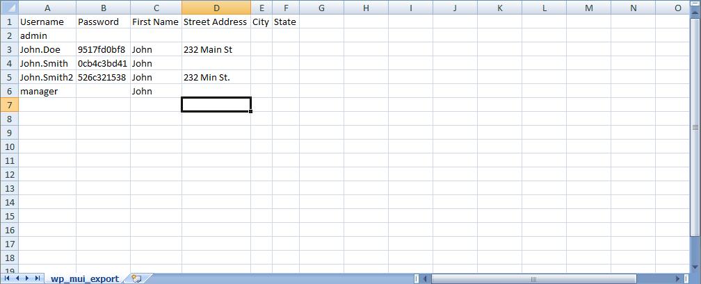 CSV File Page