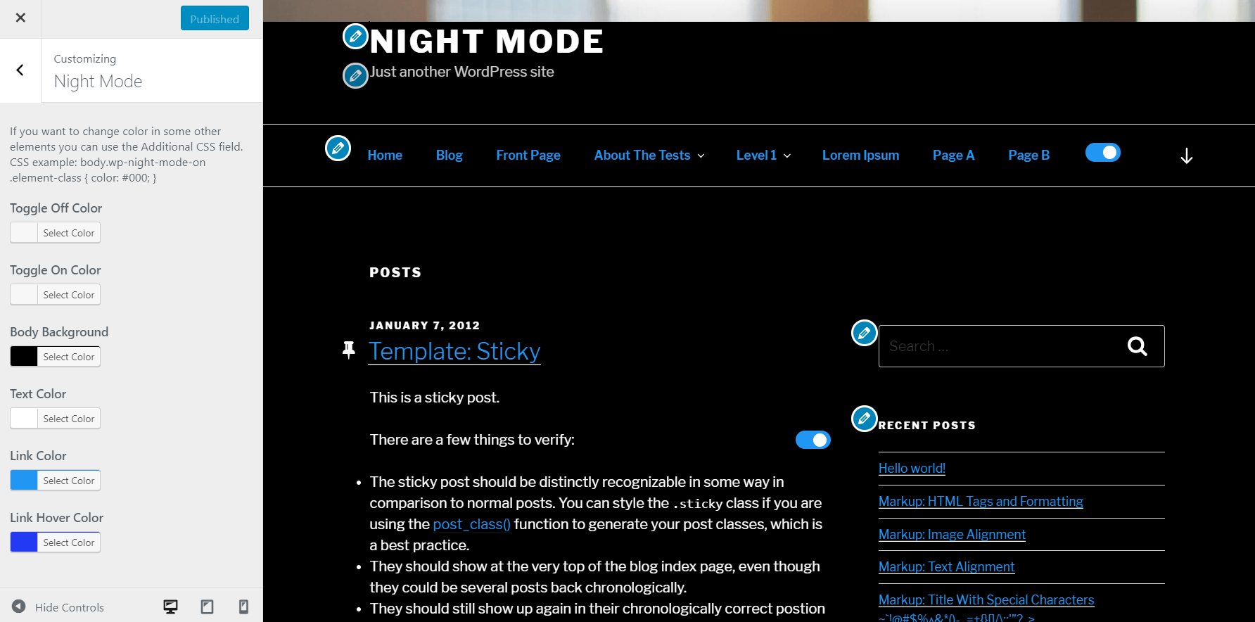 WP Night Mode – WordPress plugin | WordPress org
