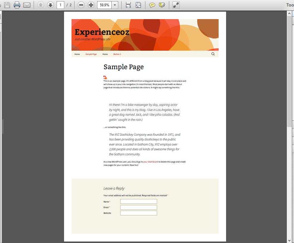 Pdf php webpage as