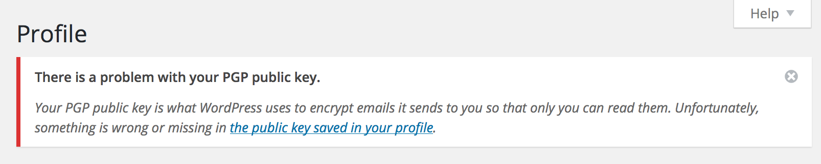 WP PGP Encrypted Emails – WordPress plugin | WordPress org