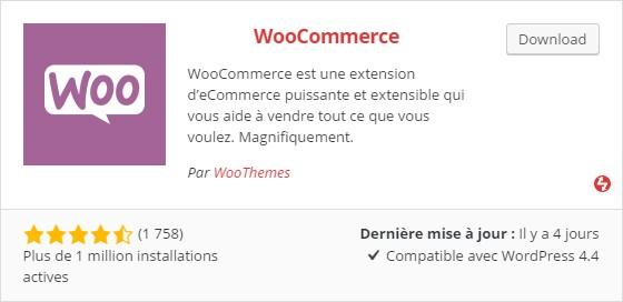 WordPress layout with a plugin card