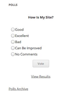 WP-Polls's Screenshot: Poll - Single Poll Answer
