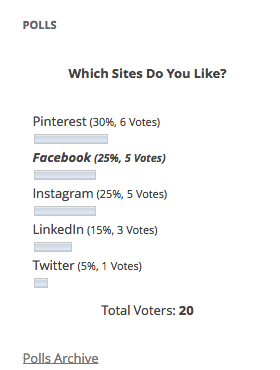 WP-Polls's Screenshot: Poll - Results