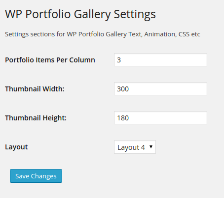 Add New Portfolio Item Screenshot - look and feel.