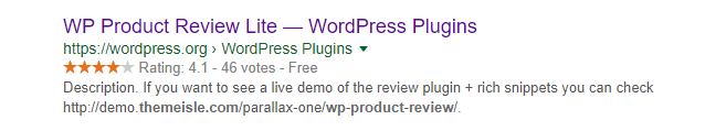 Screenshot 6 Rich Snippets displayed in Google