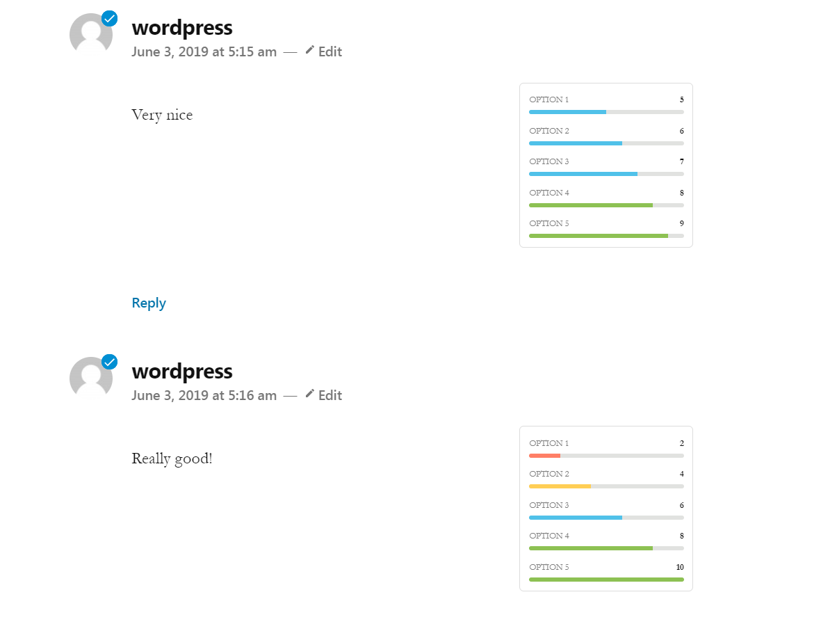 Screenshot 7 How ratings appear as comments