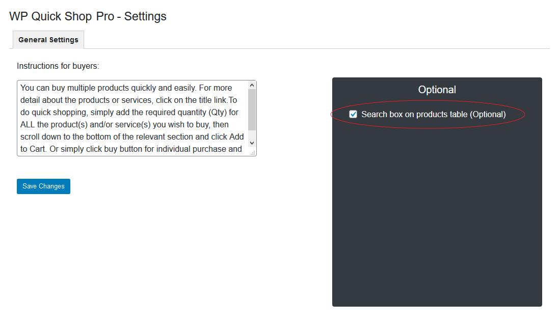 Search Box Feature - (Premium / Optional)