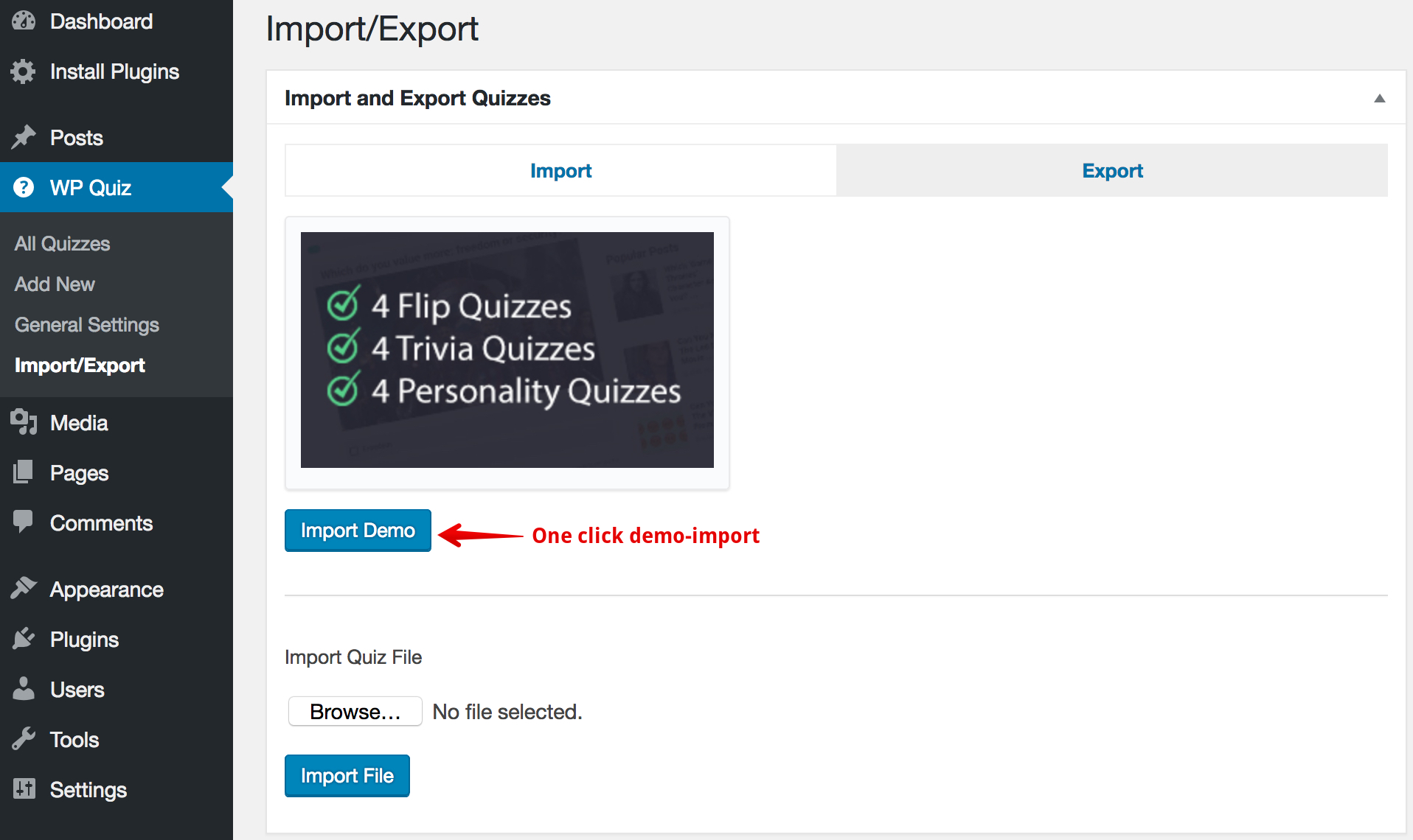 Best Quiz Plugin for WordPress: WP Quiz – WordPress plugin