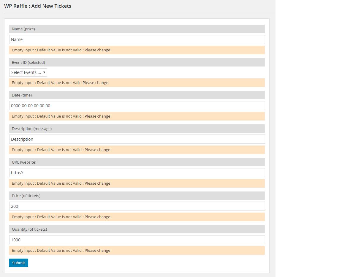 screenshot-4 /assets - ( wp-raffle ) add new - tickets ( 100% ) screen dimension .