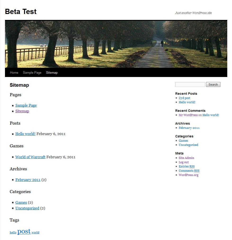 Wordpress Sitemaps: WP Realtime Sitemap