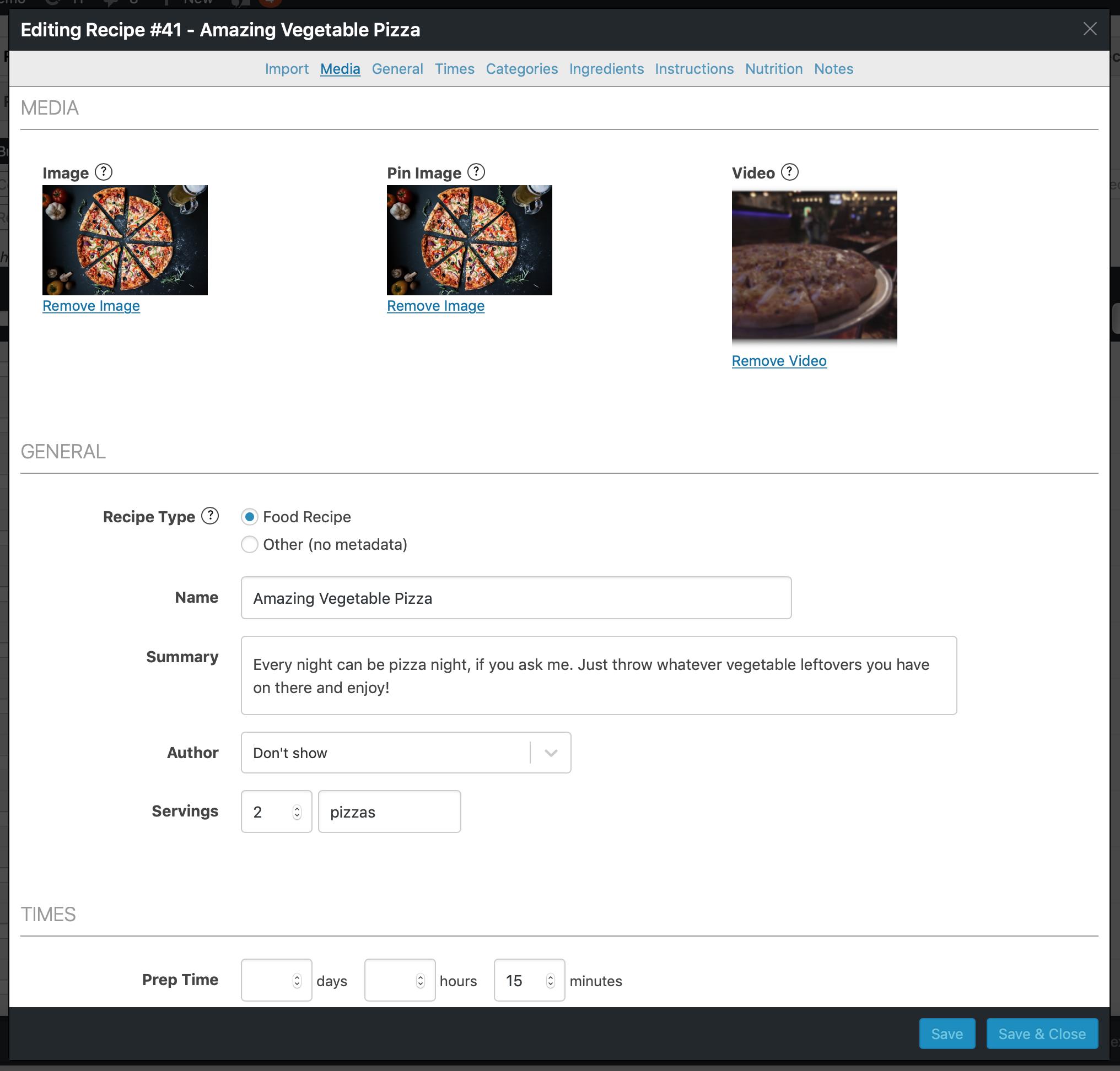 WP Recipe Maker — WordPress Plugins