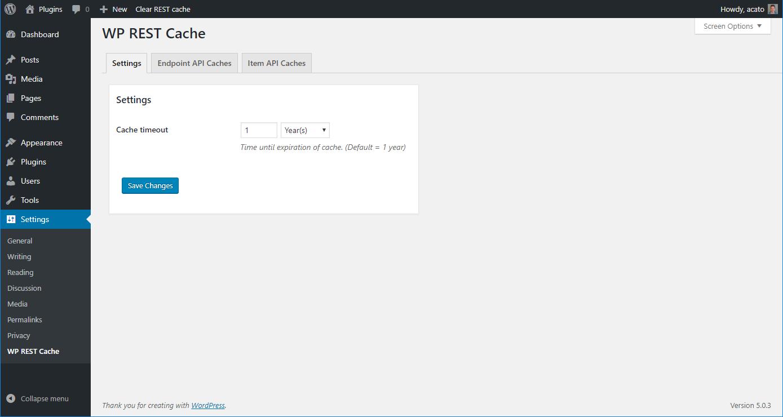 WordPress Cache Array