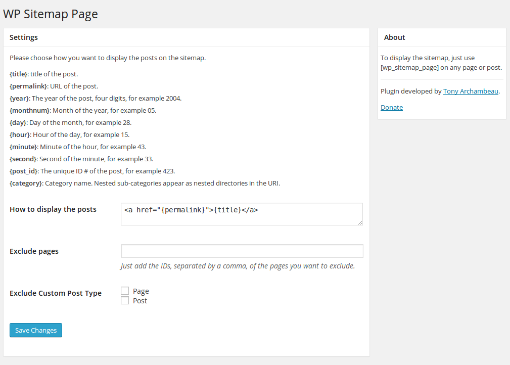 wp sitemap page wordpress org