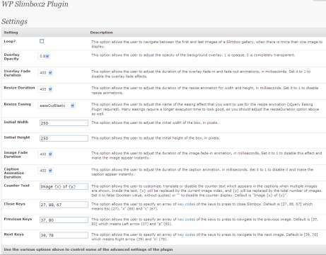 Administration interface in WordPress 2.7
