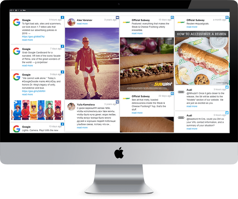 Social Feed | Custom Feed for Social Media Networks