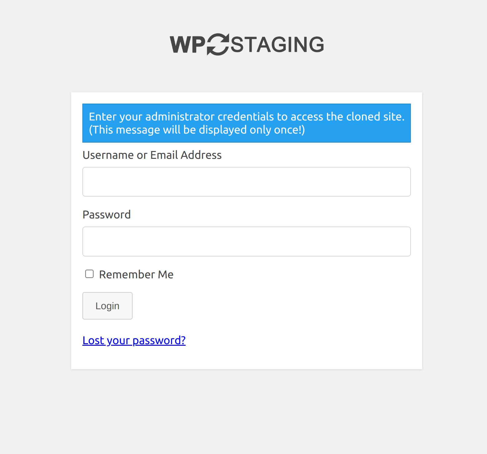 Open, edit & delete staging / backup sites