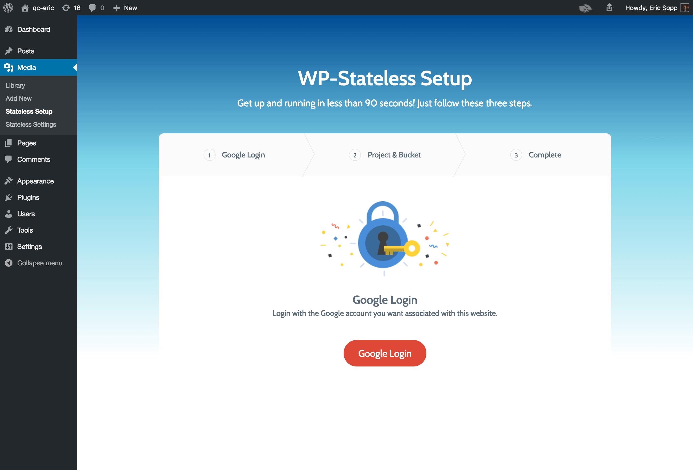 Setup Assistant: Google Login