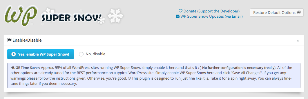 WP Super Snow Screenshot #2