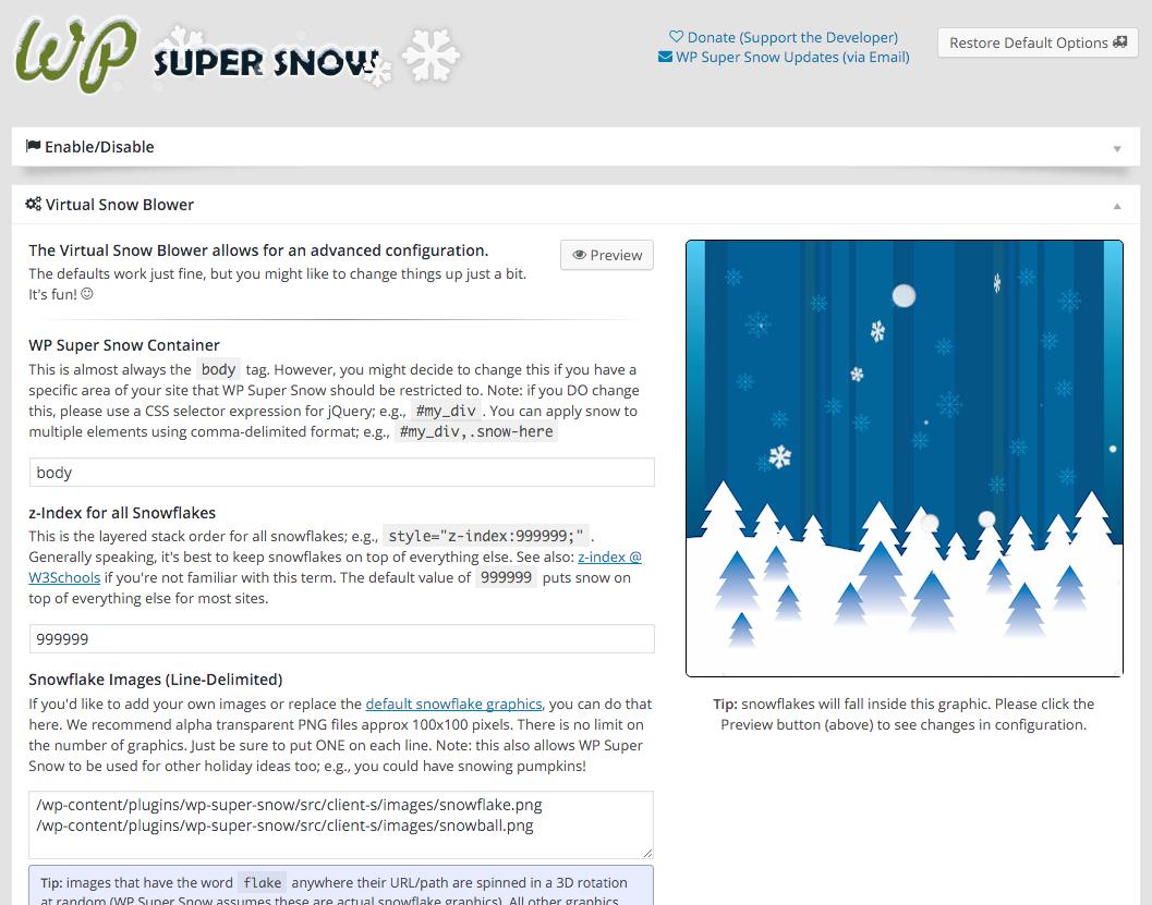 WP Super Snow Screenshot #3