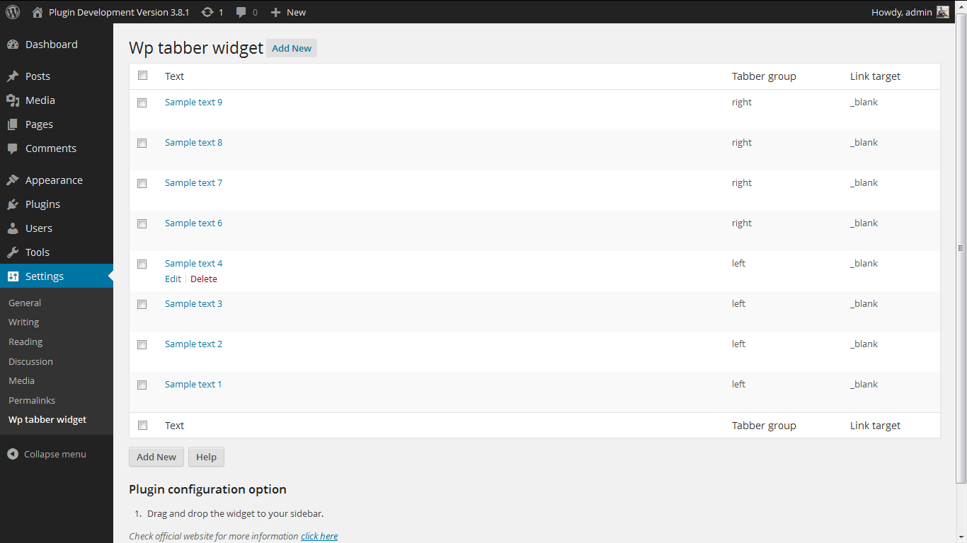 wp-tabber-widget screenshot 2