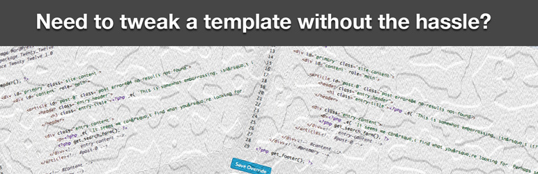 WP Template Overrides