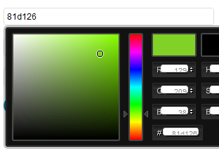 Colorpicker for easy color selection