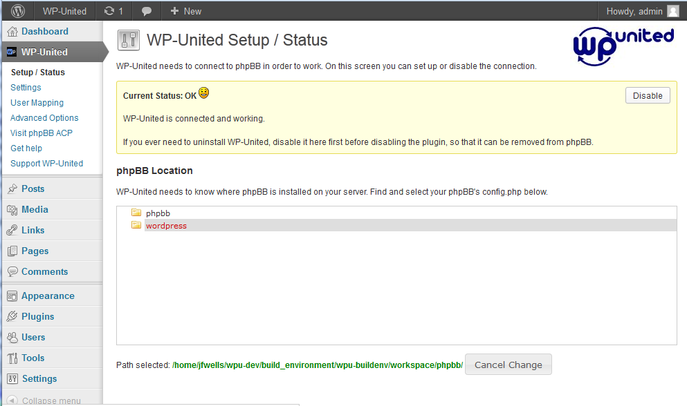 wp-united screenshot 1