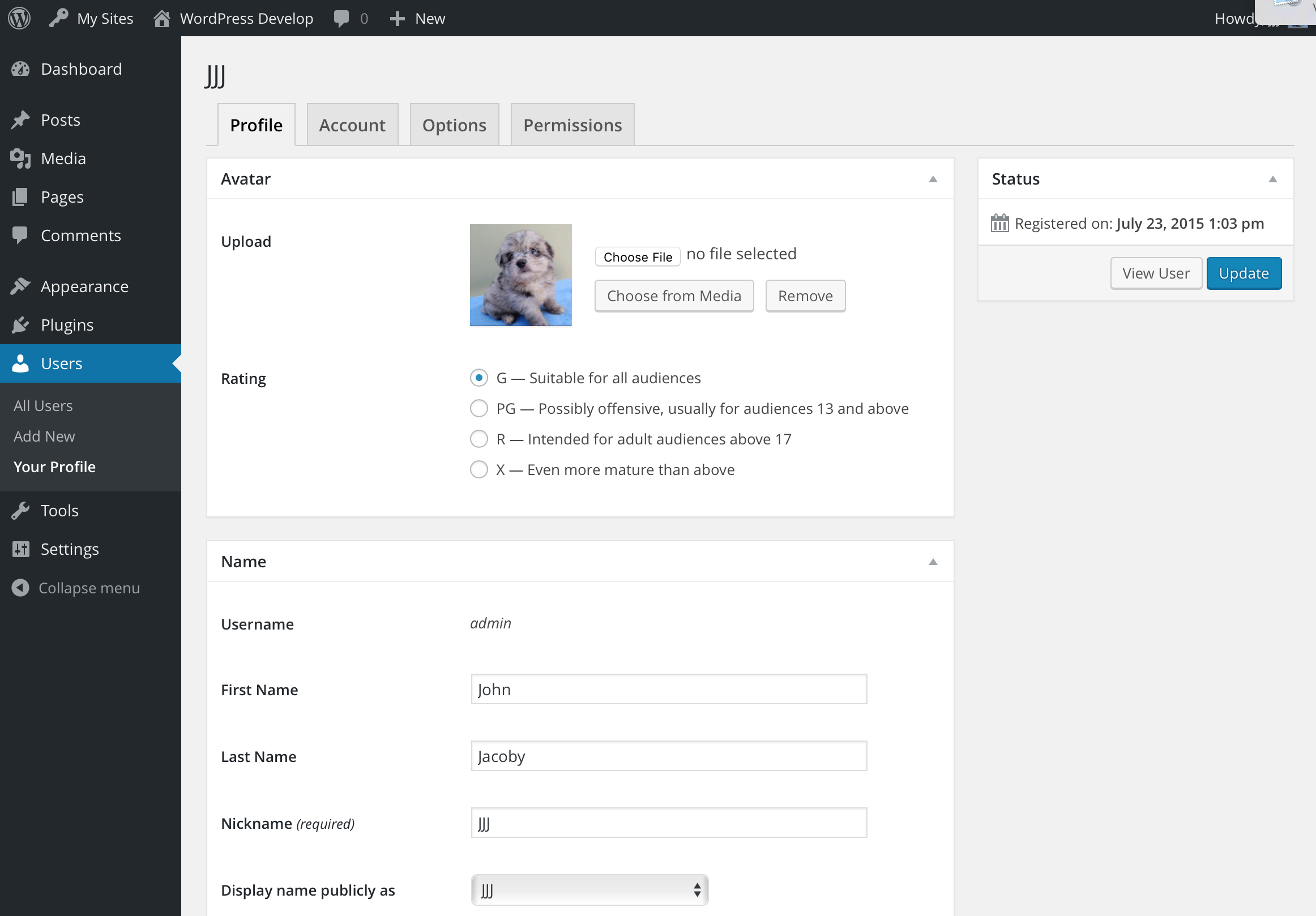 WP User Profiles (Normal)