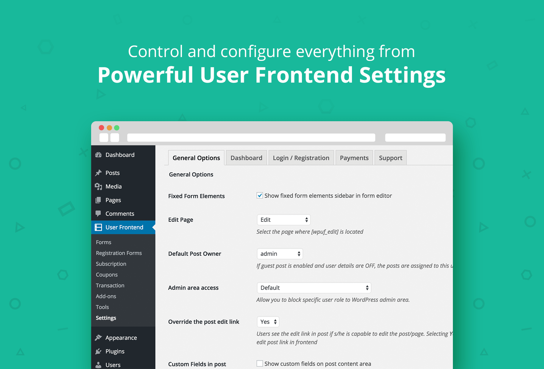 WP User Frontend – Membership, Profile, Registration & Post