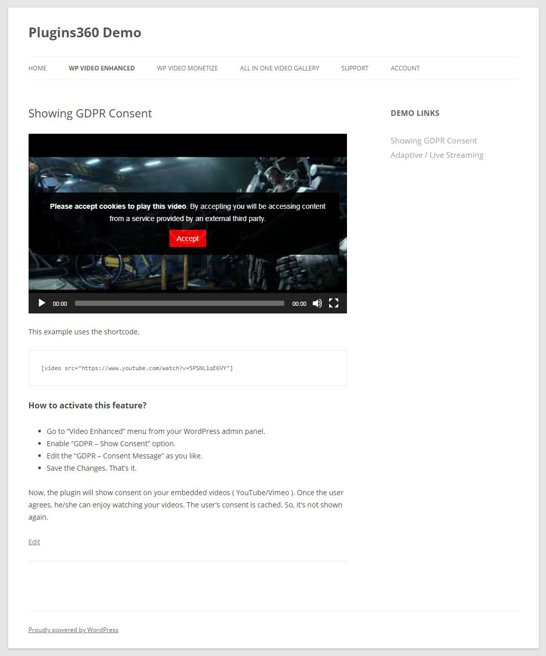 wp videos on wordpress