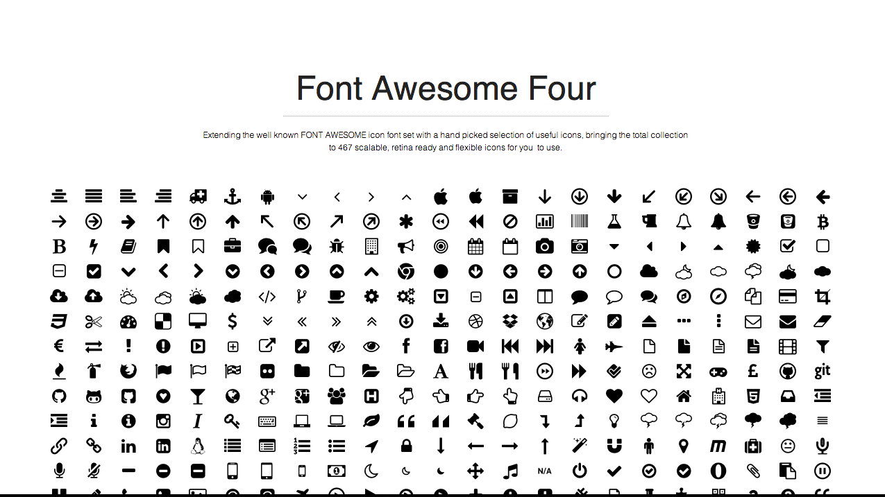 font awesome 4 7 icons