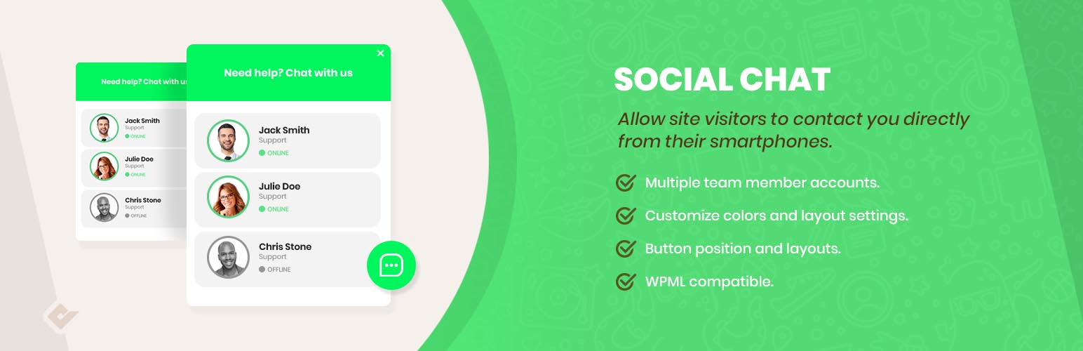 WP Social Chat – WordPress plugin | WordPress org
