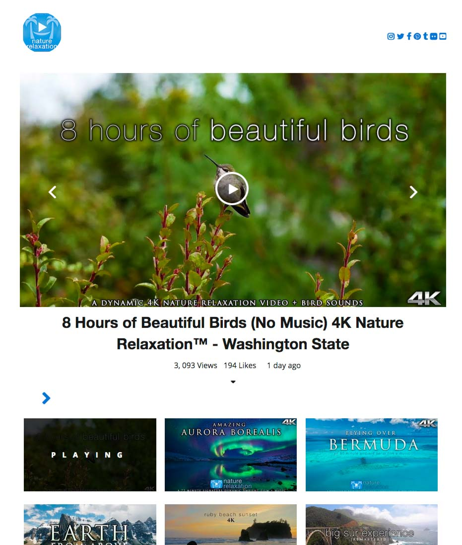 WP YouTube Embed Screenshot 1: Grid layout for Channel, Playlists, Videos or Search