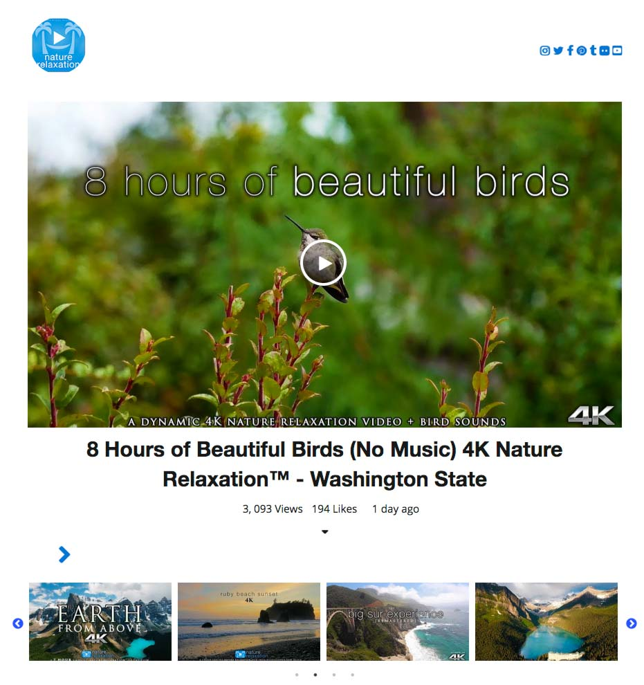 WP YouTube Embed Screenshot 3: Carousel layout for Channel, Playlists, Videos or Search