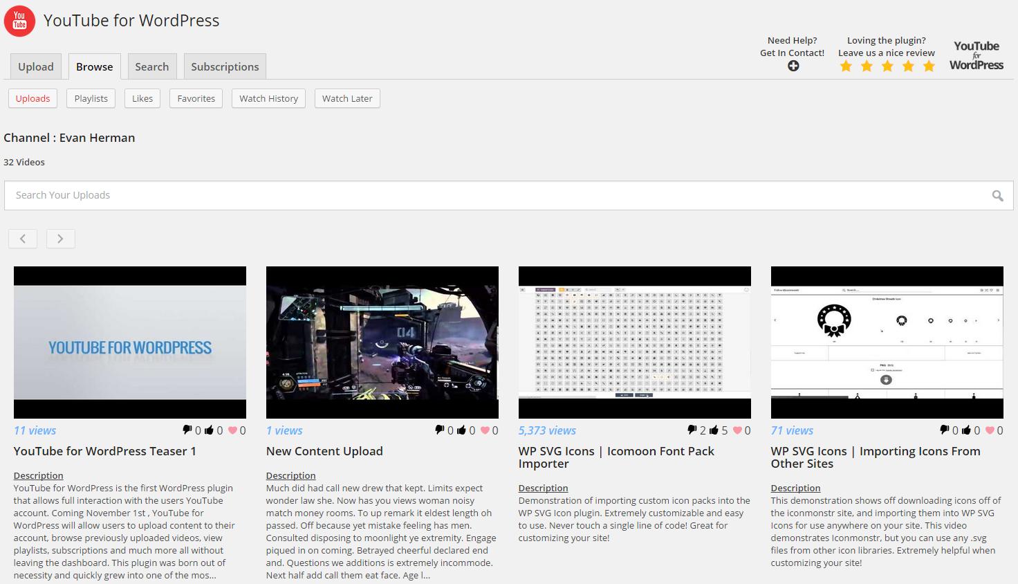 YouTube for WordPress | WordPress org