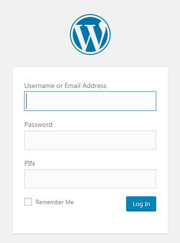wPadlock will add an additional PIN to your login form. The PIN is verified through our web service.