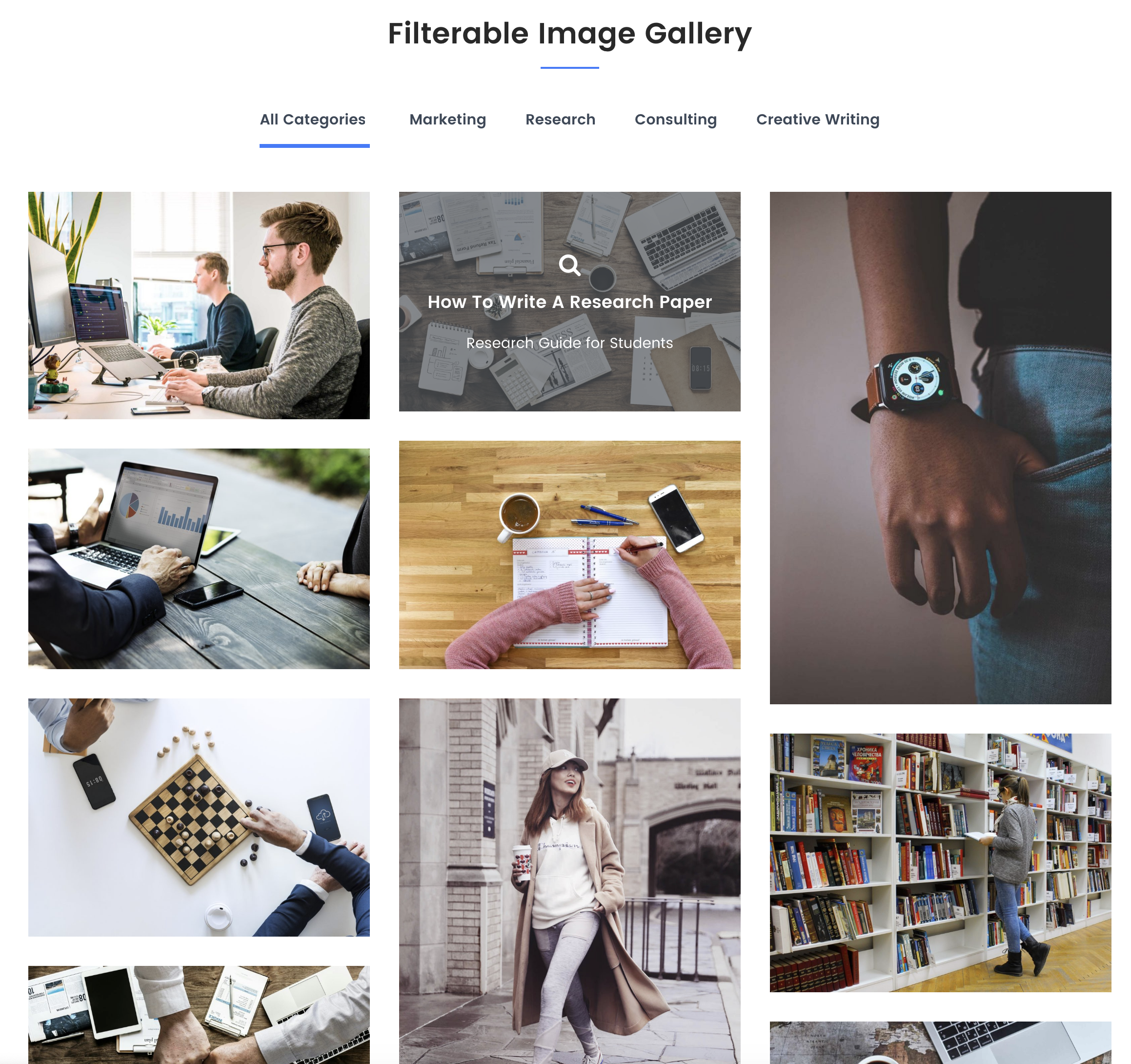 Filterable Image Gallery​.