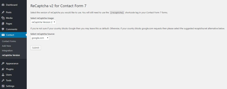 ERROR for site owner: Invalid site key | WordPress org