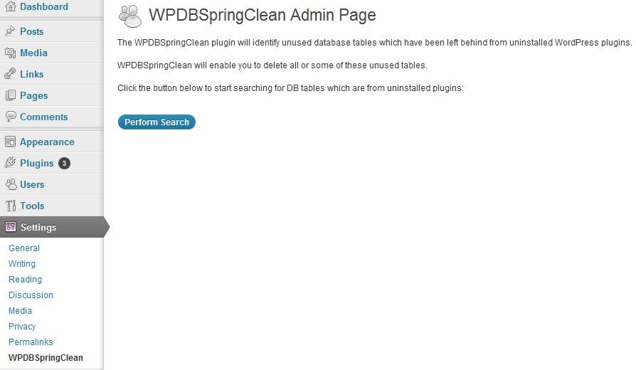 Screen shot file screenshot-1.jpg shows the table delete admin menu.