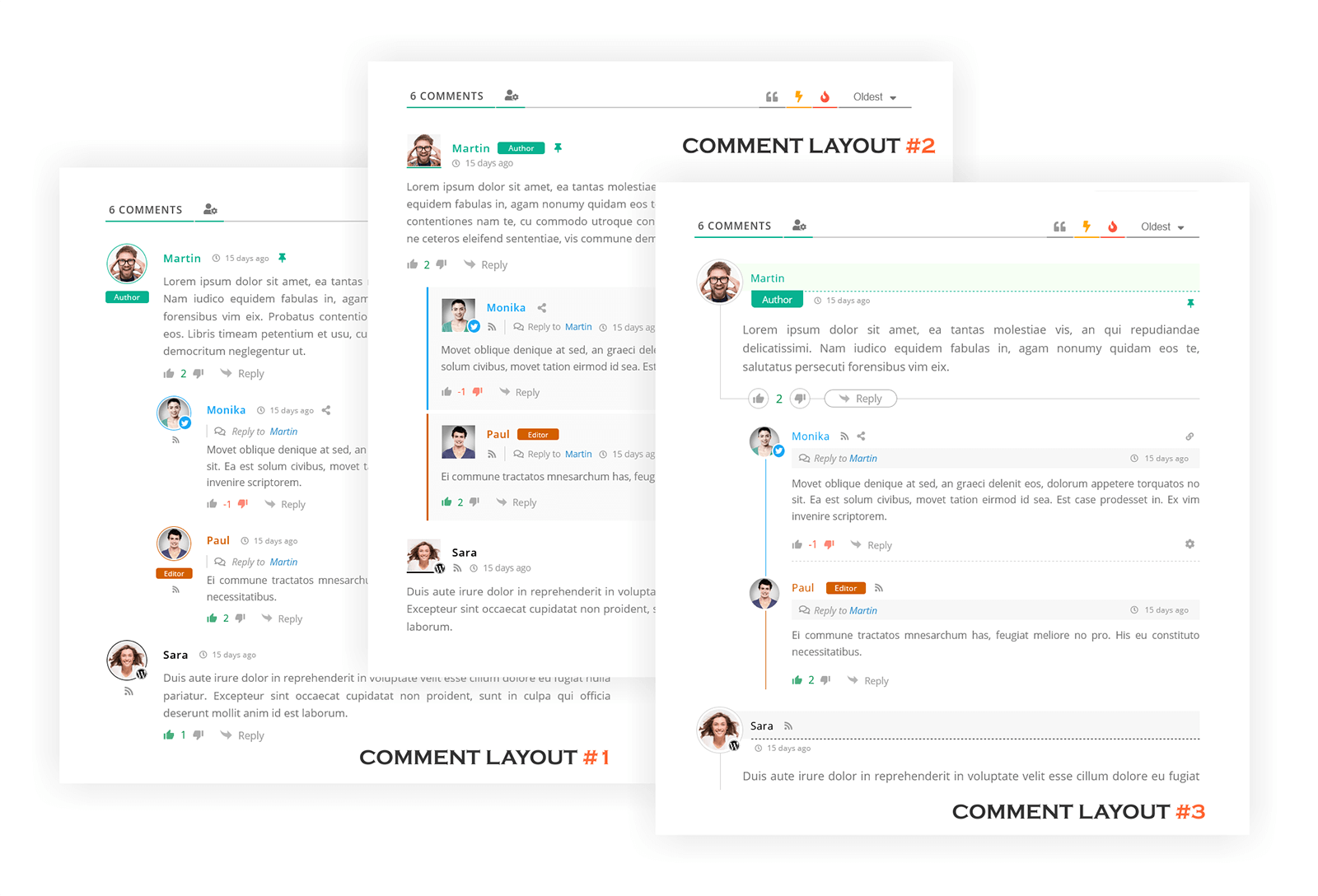 wpDiscuz Comments Three Layouts | Screenshot #1