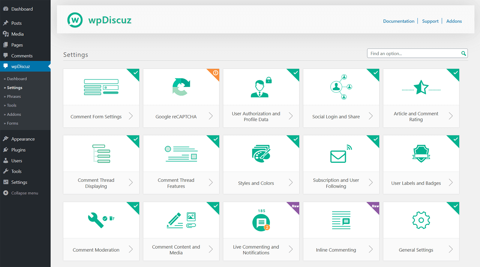 wpDiscuz Settings | Screenshot #11