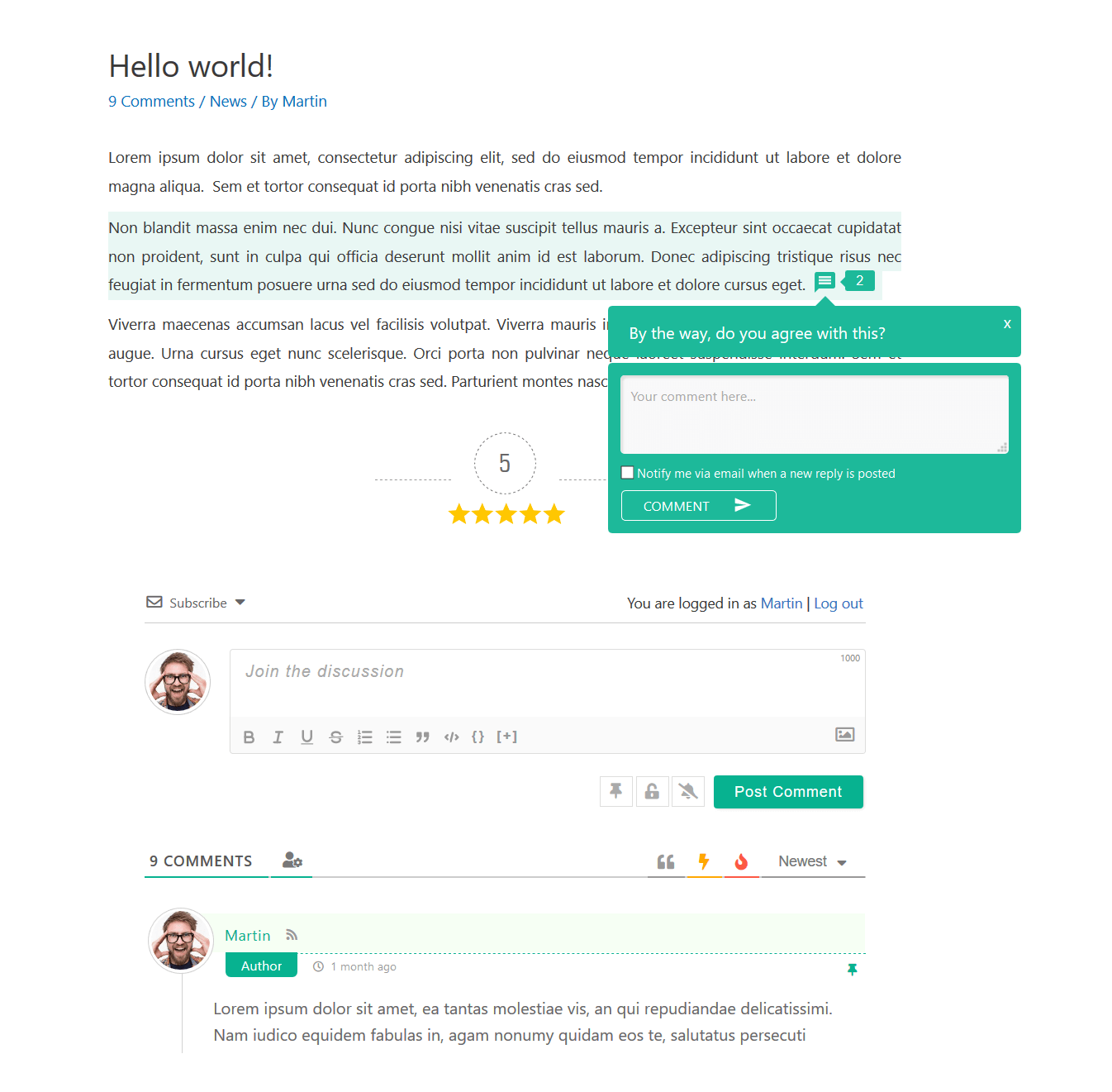 wpDiscuz Comments - Reply Form | Screenshot #3